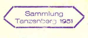 Abdruck des Tanzenberg-Stempels