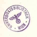 Fig. 1: National Socialist stamp of the Library of the University of Vienna