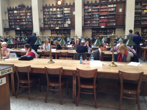 Main Reading Room, full of readers and living books