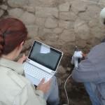Messung im Feld mit portable XRF-Gerät