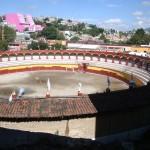 Ausblick auf die Stierkampfarena in Tlaxcala