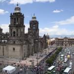 Die Kathedrale von Mexiko City, die auf dem alten Tempelgelände steht.