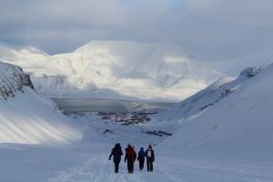 … und vom Gletscher aus gesehen