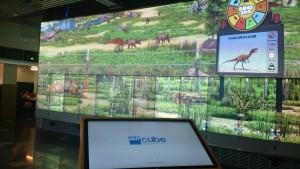 The Cube ist einer der weltweit größten digital-interaktiven Lern- und Ausstellungsräume und zielt auf abwechslungsreiche Vermittlung der an der QUT betriebenen Forschung in den MINT-Fächern ab.