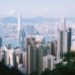 Aussicht vom Victoria Peak (552m) in Hong Kong Island, Ausgangspunkt von etlichen Wanderwegen