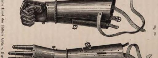 """Fig. 20: Die eiserne Hand des Ritter Götz v. Berlichingen"""" in: Ernst Kapp, Grundlinien einer Philosophie der Technik. Zur Entstehungsgeschichte der Cultur aus neuen Gesichtspunkten, George Westermann: Braunschweig 1877, S. 102."""