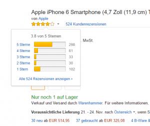 Online Bewertungssystem auf Amazon.de