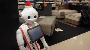 "Roboter ""Pepper"" berät die Kunden. Bild: Martina Mara"