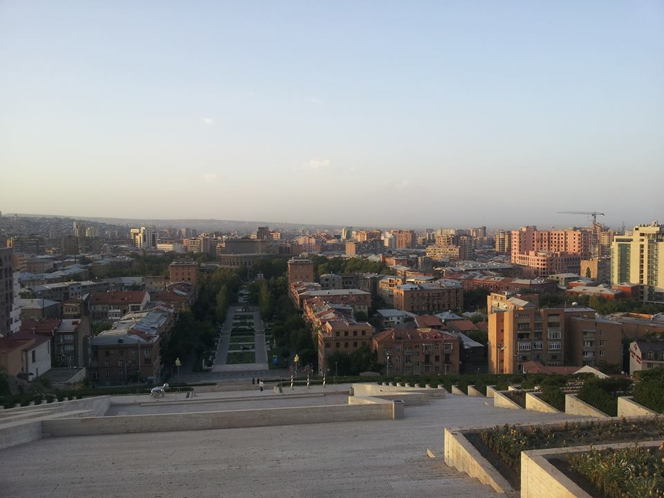 Ein Blick auf die armenische Hauptstadt Jerewan