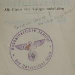 Abb. 20: Kommentierung eines NS-Stempels in einem Deutsch-Englischen Wörterbuch an der Fachbereichsbibliothek Kunstgeschichte