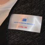 Besucherbadge der Europäischen Kommission