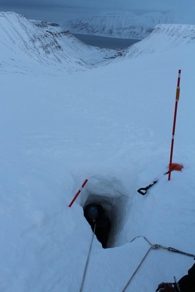 Durch ein Loch in der Schneedecke…