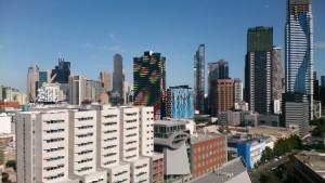 Im QS Best Student Cities 2016 Ranking liegt Melbourne, hinter Paris, auf dem 2. Platz. (Blick aus dem 10. Stock der Melbourne Law School auf die Innenstadt).