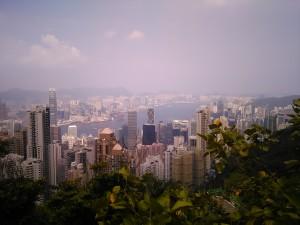 Blick vom Victoria Peak auf die Stadt