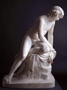Male sculpture in white