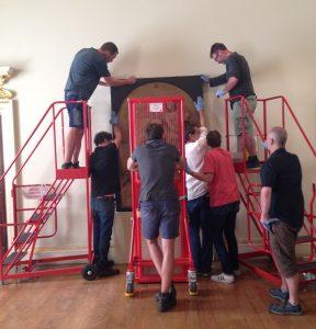 Aufbau der Ausstellung (© Anna Sophie Frasca-Rath)