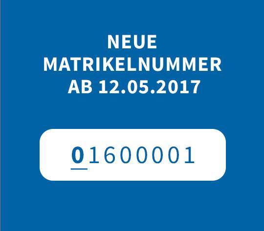 Matrikel Nummer