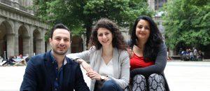 Die drei StipendiatInnen 2017 (© Sommerhochschule Wien)