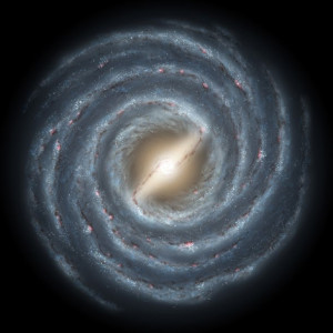 The Milky Way Galaxy having 100 billion stars. It would take 100 times this number to equal the number of microbes in our intestinal tracts. From: https://www.nasa.gov/mission_pages/GLAST/science/milky_way_galaxy.html. Credit: NASA JPL