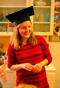 Julia Lindsey bei ihrer Abschlussfeier (©Julia Lindsey)