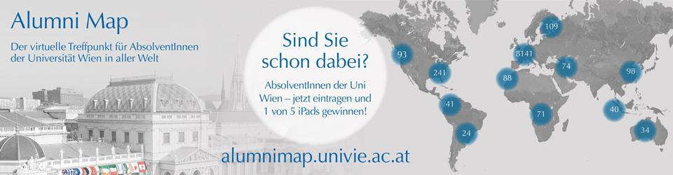 Alumnimap der Universität Wien (© Alumniverband Universität Wien)