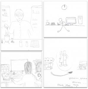 Zeichnungen zur Studie