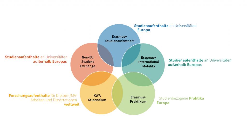 Hier sind Mobilitätsprogramme im Überblick zu sehen.