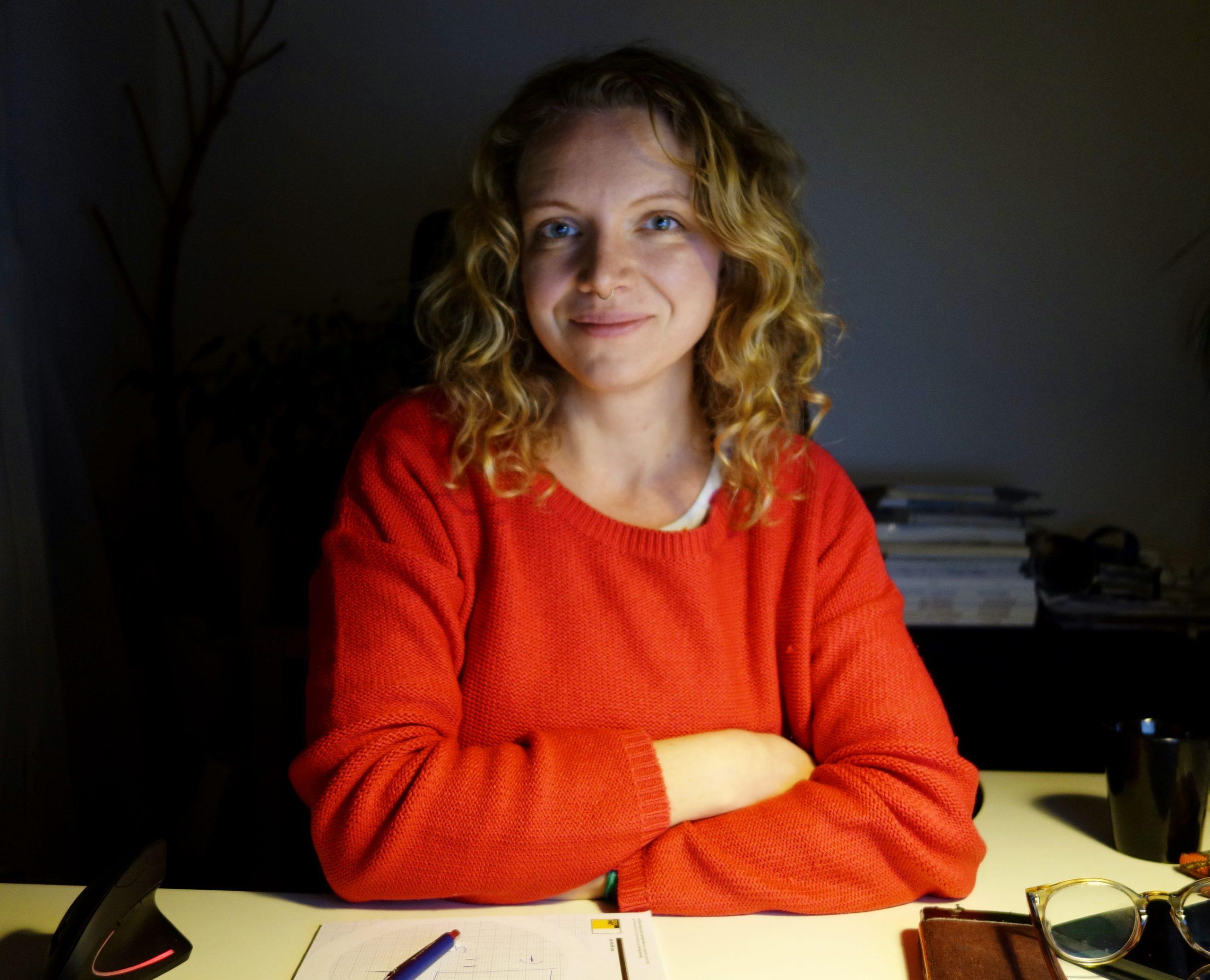 Anna Iglseder im Homeoffice