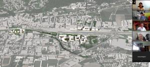 Bei der digitalen Exkursion gab es auch einen Überblick über das Quartier A in Amstetten.